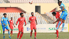 Abahani at the summit after edging...