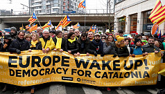 Huge Catalan march in Brussels to wake...