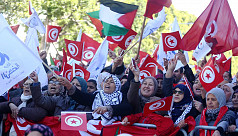 New protests as Tunisia marks uprising...