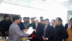 Shafin Ahmed collects nomination papers...