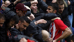Costa scores, sent off on Atletico...