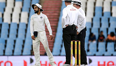 Kohli fined, handed demerit point for...