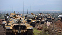 Turkish forces push into Syria, clash...