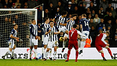 Controversial penalty earns West Brom...