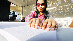 Sporsho: Braille publication house sets up stall at Ekushey Book Fair