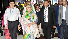 PM Hasina returns home from Italy
