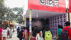 Fans throng 'Unmad' stall at Ekushey...