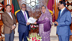 PM Hasina calls on President Hamid