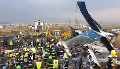 Scores dead as US-Bangla flight crashes...
