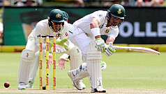 South Africa edge ahead on the day the...