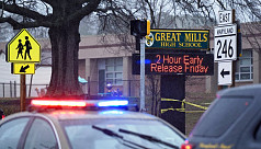 Two hurt, shooter dead at Maryland high...