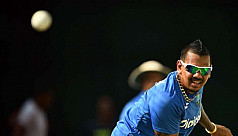 Windies spinner Narine's bowling action...