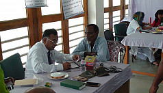 Free health camp service held in...