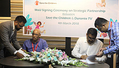 Save the Children, Duronto TV sign MoU...