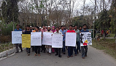 SUST brings out silent procession