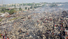 Fire guts 8,000 shanties in Mirpur...