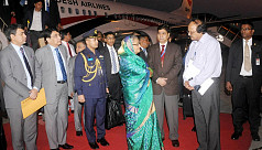 PM Hasina returns home from...
