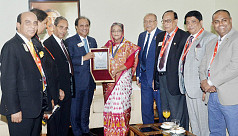 Lions Clubs honours PM Hasina with Medal...