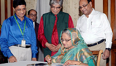 PM Hasina releases commemorative postage stamps on Independence Day