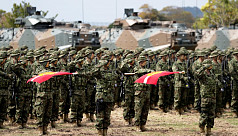 Japan launches first marines since WWII...