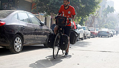 Egyptian gets on his bike for World...