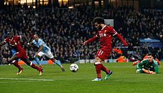 Guardiola sent off as Salah sends Liverpool...