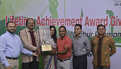 Siddikur receives lifetime achievement...