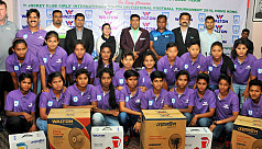 Bangladesh girls felicitated by...