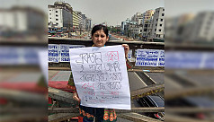 The girl who stood alone in protest...