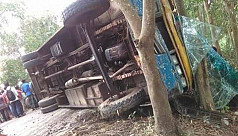 2 killed, 25 injured as bus turns over...