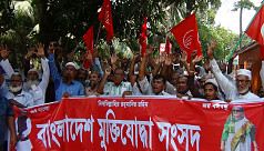Freedom fighters in Magura protest quota...