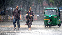 Rain both relief and pain in Dhaka