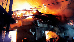 Hundreds of shops gutted in Bhola...