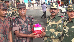 BGB surprise BSF with Pohela Boishakh...