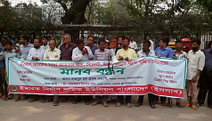 Construction workers protest price hike...