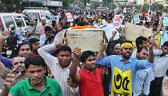 Demonstration in Shahbagh again over...