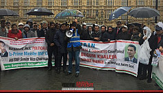 BNP protests in front of British Parliament...