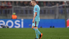 Iniesta admits pain after Barcelona...