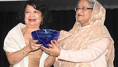 PM Hasina receives Global Women's Leadership...