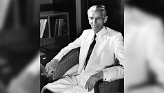 Jinnah portrait at Aligarh Muslim University...