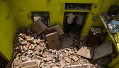 India storm toll of death and devastation...
