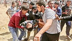 Palestinians in Haifa protest over Gaza...