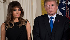Trump welcomes Melania home from hospital...