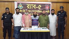 5 JMB members arrested in Rajshahi and...