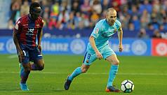 Barcelona lose unbeaten run at Levante...