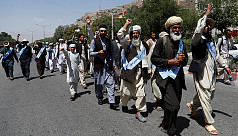 Afghan peace marchers arrive in Kabul...