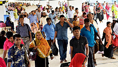 Eid holidaymakers start returning to...