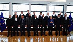 EU leaders tackle political flare-up...