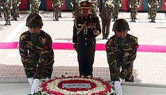 Army chief pays respect to...