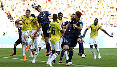 Japan beat 10-man Colombia 2-1 in another...